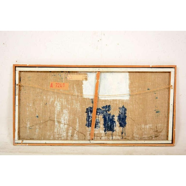 For your consideration an abstract oil on canvas painting by Czech artist Kaollec Euscadi.