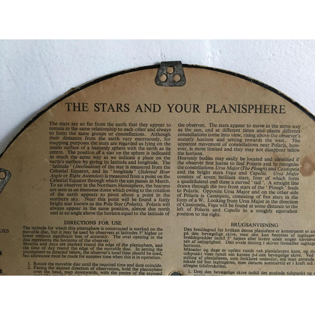 1959 Antique Philips Company Planisphere For Sale - Image 5 of 7