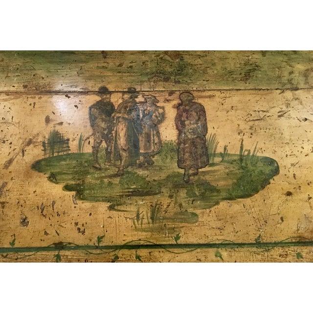 Wood 18th Century Italian Lacca Povera Estate Chest For Sale - Image 7 of 11