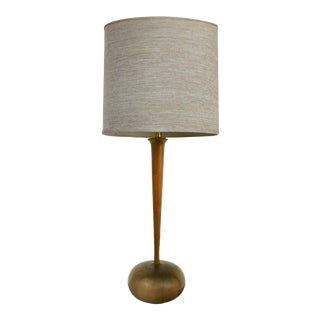 Studio Mid-Century Modern Turned Wood Lamp For Sale