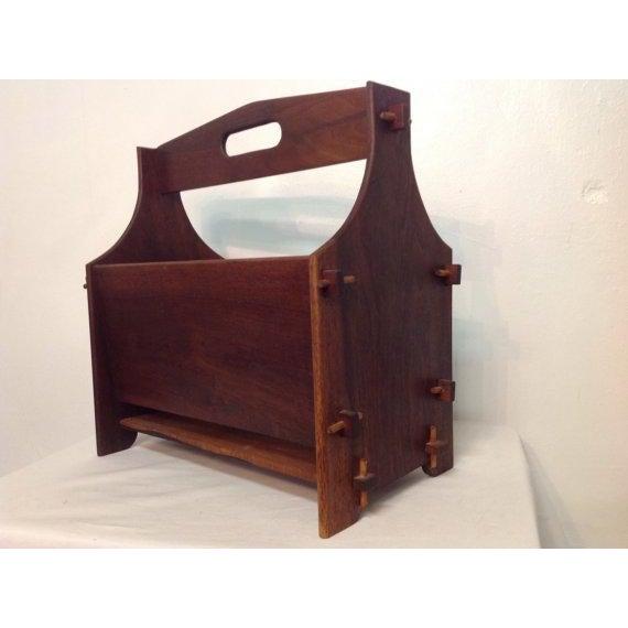 Handmade Wooden Magazine Rack 1930s - Image 3 of 6
