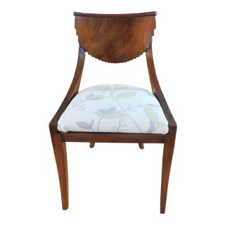 Antique Mid-Century Scalloped-Back Wood Side Chair/Accent Chair/Dining Chair For Sale