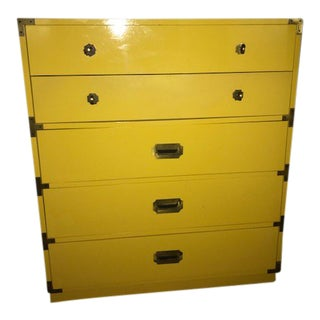 1970 Thomasville Yellow Dresser For Sale