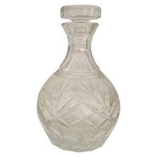 Vintage Lidded Crystal Decanter