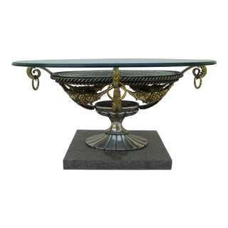 Hollywood Regency Maitland Smith Coffee Table - Handmade For Sale