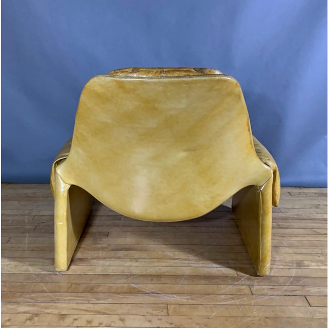 Leather 1960s Vittorio Introini for Saporiti Lounge & Ottoman For Sale - Image 7 of 13