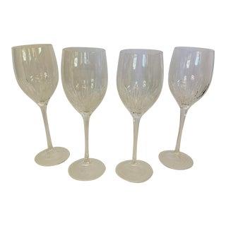 Vera Wang Wedgewood Duchesse Wine Glasses - Set of 4 For Sale