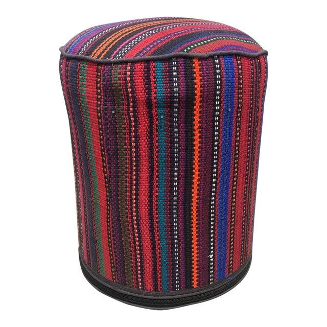 Vintage Kilim Fabric Stool - Image 1 of 4