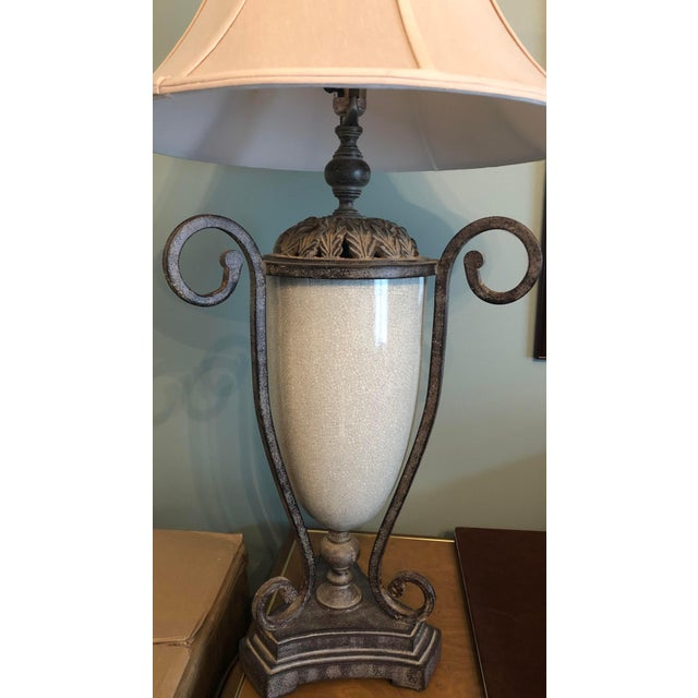 Table Lamp & Lamp Shade For Sale In Chicago - Image 6 of 9