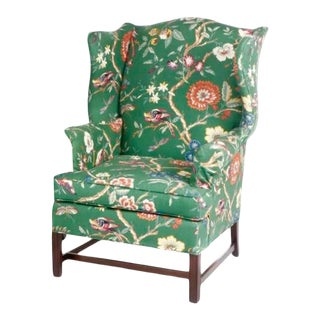 Vintage George III Style Wingback Chair For Sale