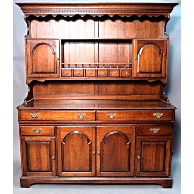 Pennsylvania House Early American Cherry Hutch For Sale - Image 10 of 10