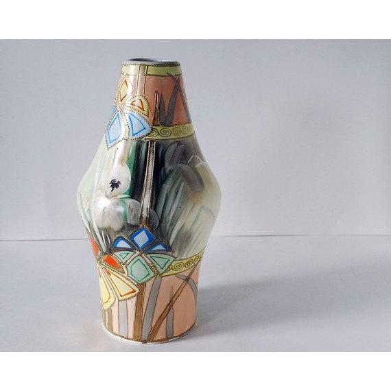 Antique Nippon Art Deco Vase Royal Nishiki Pottery Chairish