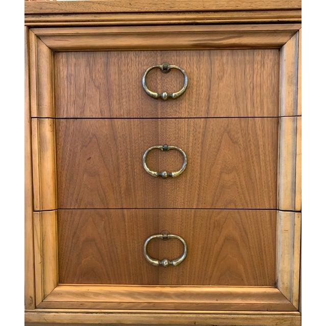 1960s Mid Century Modern - Custom 1960's Burl Wood Dresser For Sale - Image 5 of 11