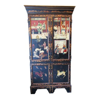 Asian Decorative Cabinet Cupboard For Sale