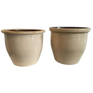 Early 20th Century American Glazed Clay Storage Vessels For Sale