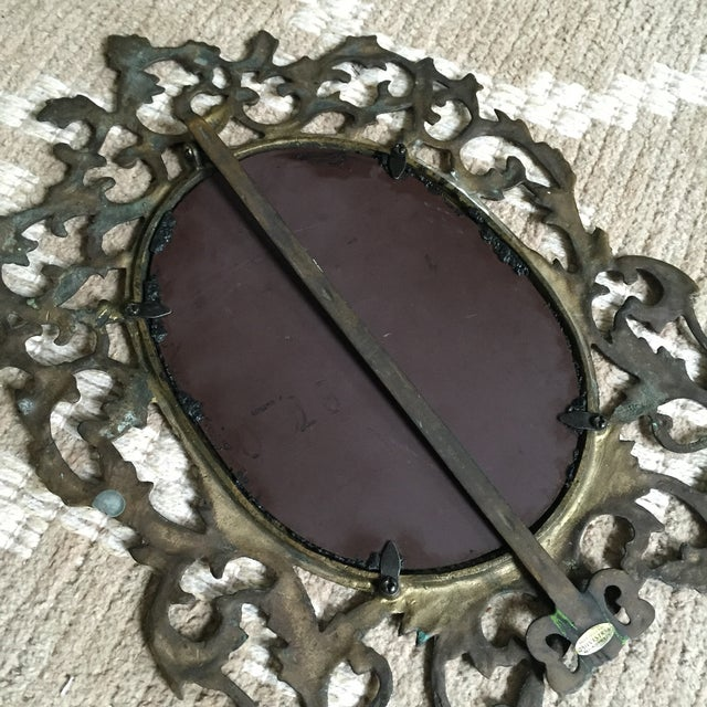 Silvestri Brass Table Mirror - Image 8 of 10