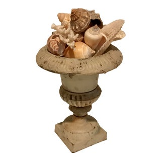 Iron Urn With Seashells For Sale