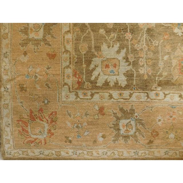 """Hand Knotted Indo-Ushak Floral Design Rug - 8'x 9'8"""" - Image 3 of 10"""