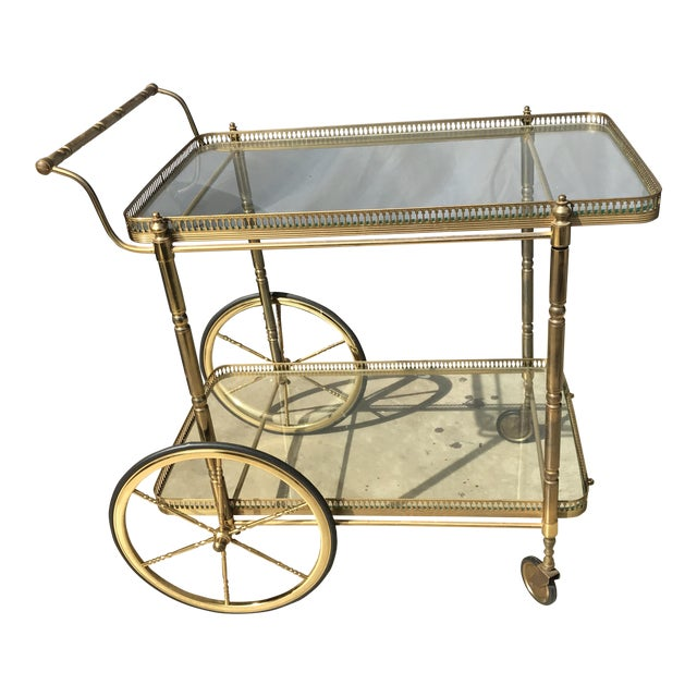 Italian Brass Bar Cart - Image 1 of 3