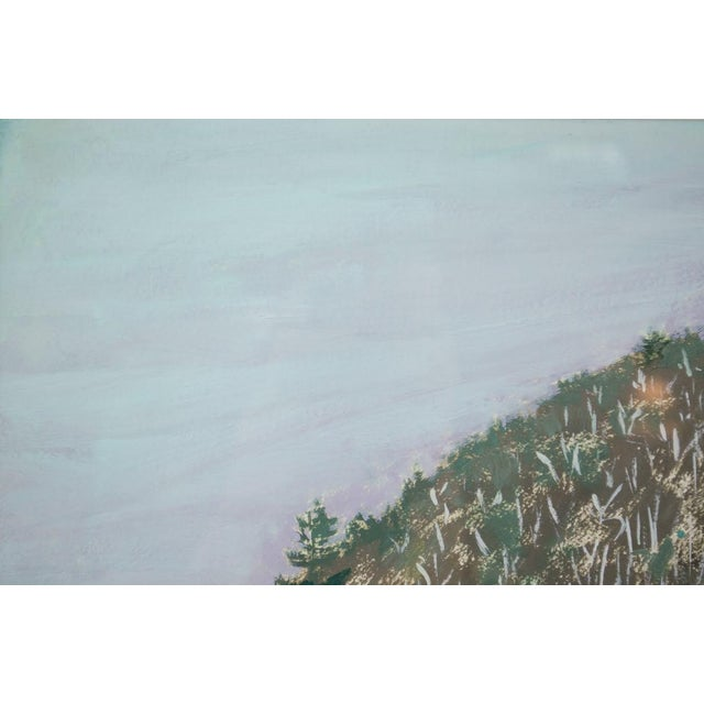 Modern Impressionist Watercolor Mountain Landscape For Sale - Image 4 of 11