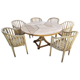 Teak Garden Set by Munder-Skiles For Sale