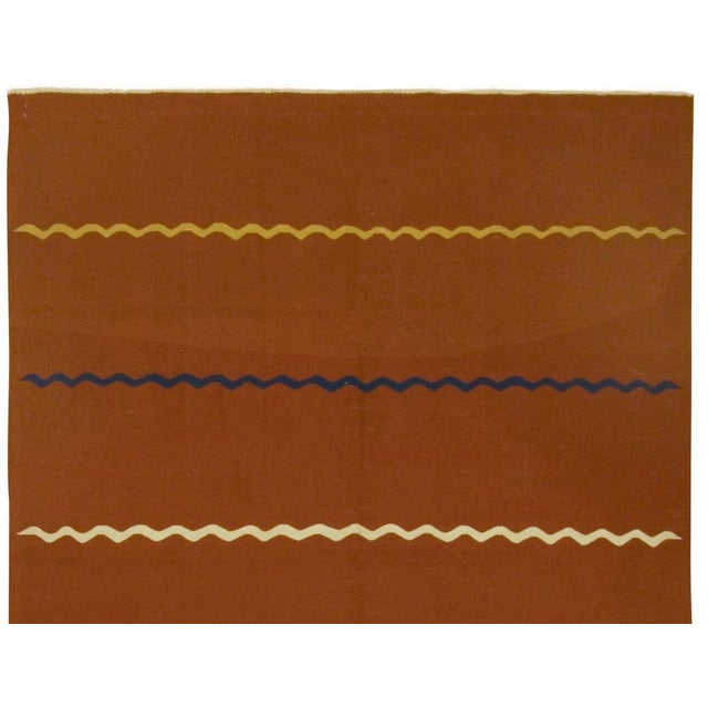 Turkish Vintage Handwoven Kilim - 5′7″ × 7′9″ For Sale - Image 4 of 5
