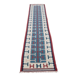 1940s Turkish Kilim Runner Rug For Sale