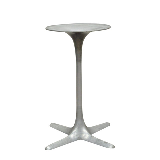 Burke Mid-Century Modern Aluminum Tulip Propeller Dining Table Base For Sale