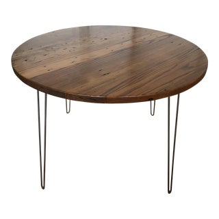 Reclaimed Chestnut Round Dining Room Table