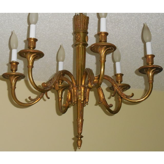 Antique Bronze French Chandelier - Image 9 of 11