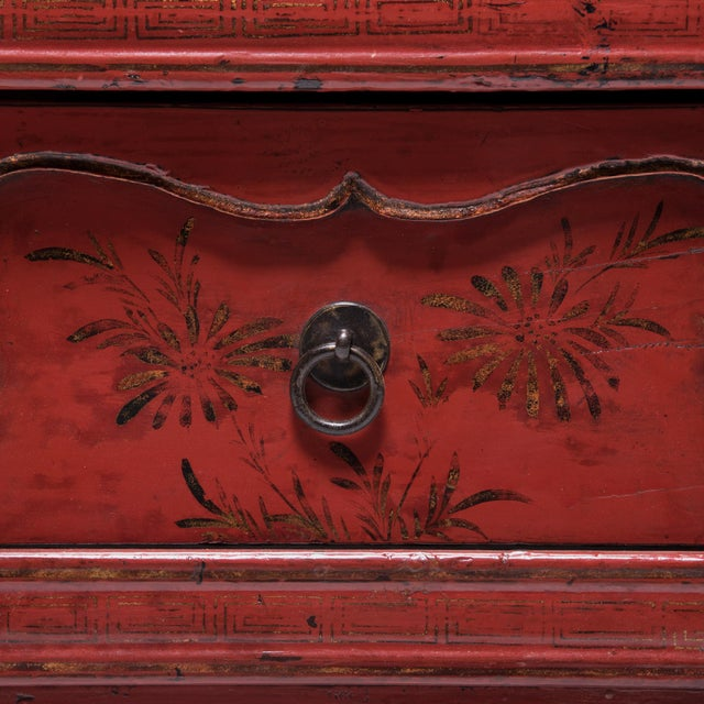 19th Century Chinese Folk Painted Cabinet For Sale - Image 9 of 10
