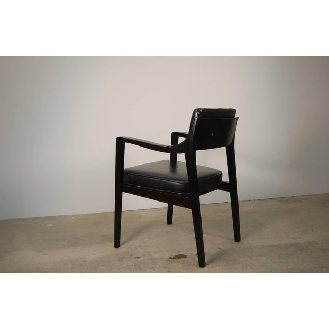 Mid-Century Modern Pair of Dunbar Chairs in Black Leather For Sale - Image 3 of 10