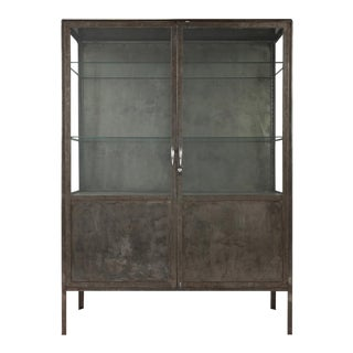 1960s Industrial Style Steel Cabinet For Sale