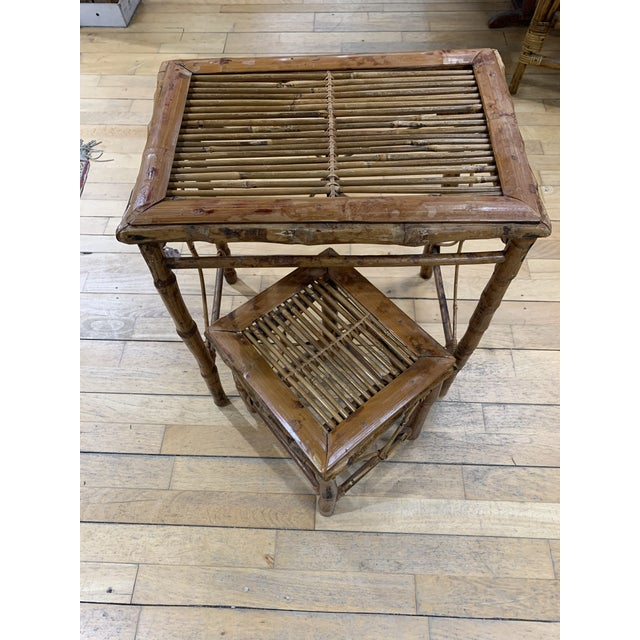 1970s Vintage Asian Bamboo Nesting Tables - Set of 2 For Sale - Image 5 of 9