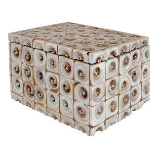 Vintage Art Deco Seashell Box For Sale