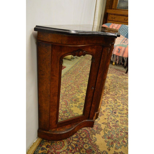 Brown Antique 1800's Burl Walnut Mirrored Sideboard For Sale - Image 8 of 11