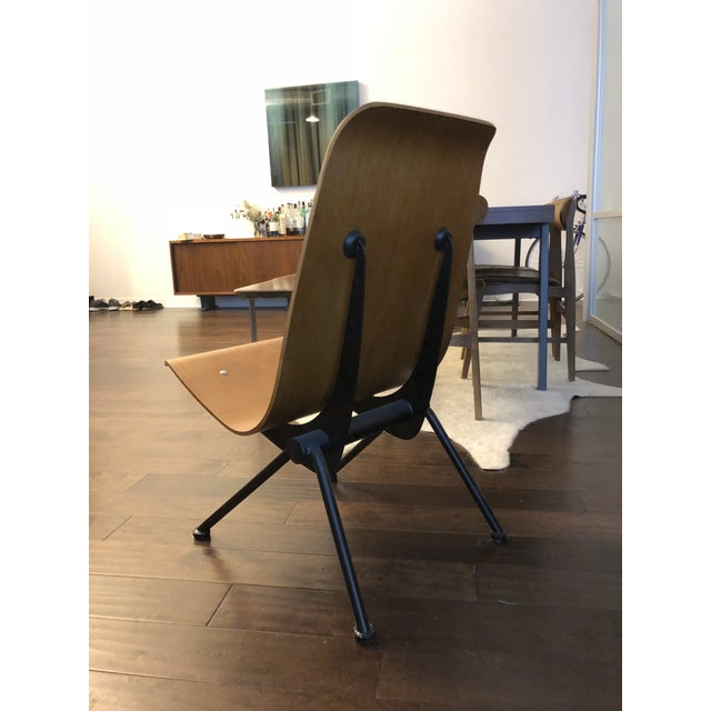 Beautiful high quality reproduction of the Anthony chair. Ergonomic bent plywood seat with welded metal legs.