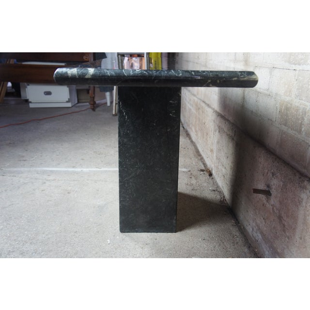 1960s Mid Century Modern Black Italian Marble Console or Sofa Table For Sale - Image 5 of 10