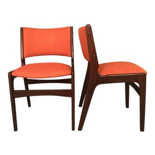 1970s Vintage Danish Dining Chairs - A Pair For Sale