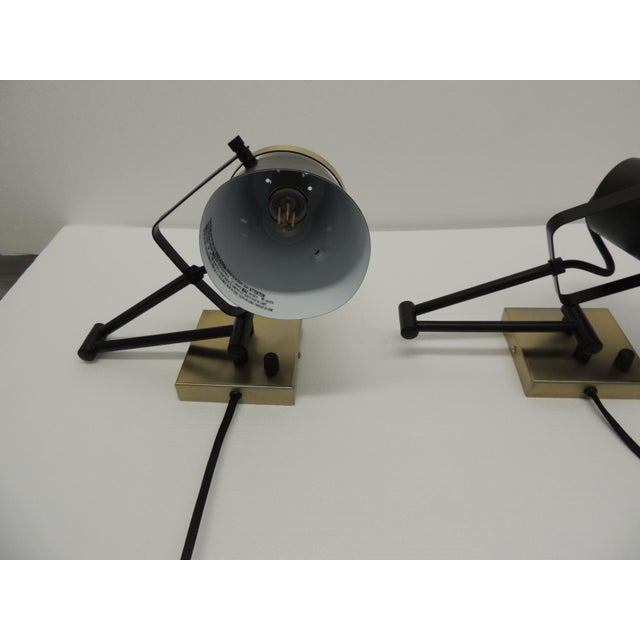Mid-Century Modern Pair of Mid Century Modern Style Wall Swing on Lamps For Sale - Image 3 of 12