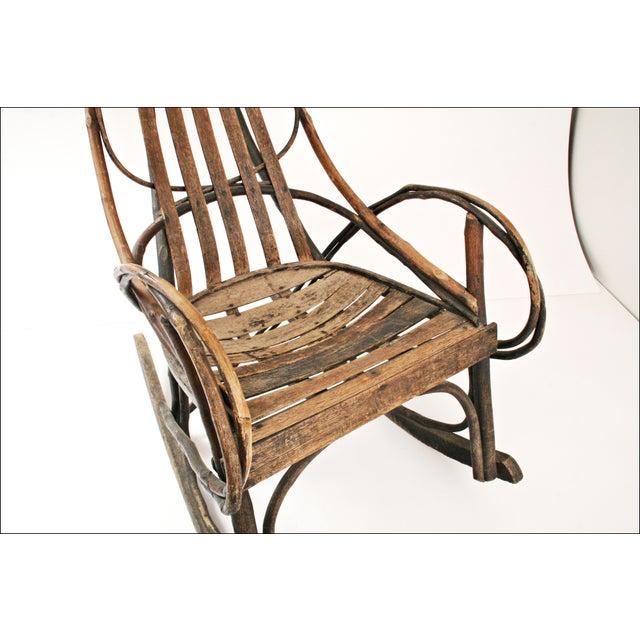 Vintage Adirondack Twig Wood Rocker - Image 9 of 11