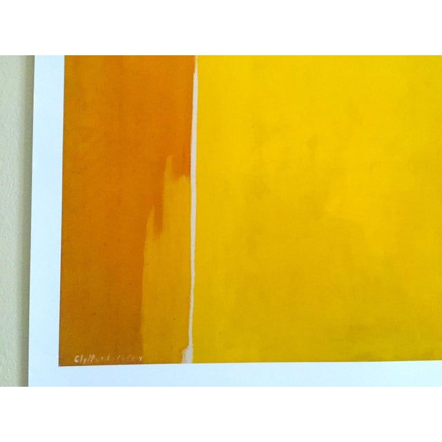 """Lithograph Clyfford Still Abstract Expressionist Lithograph Print Poster """"Ph - 1074"""", 1956 For Sale - Image 7 of 11"""