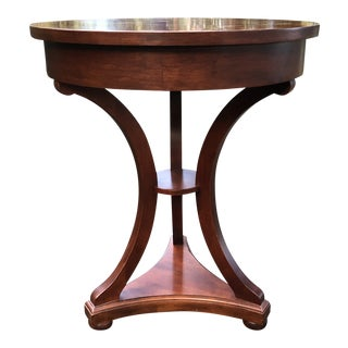 Neoclassical Drexel Heritage Delshire Cherry Round Lamp Table For Sale