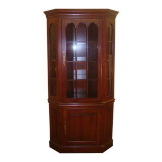 Pennsylvania House Solid Cherry Corner China Cabinet For Sale