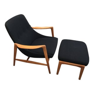 Folke Ohlsson Lounge Chair W/Ottoman For Sale