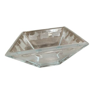 Custom Designed Clear Glass Kelty Dog Bowl