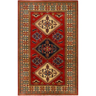 Sherwan Brent Red/Ivory Wool Rug - 4'4 X 6'6 For Sale