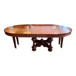 Mid 20th-Century Jacobean Table + Two Leaves For Sale
