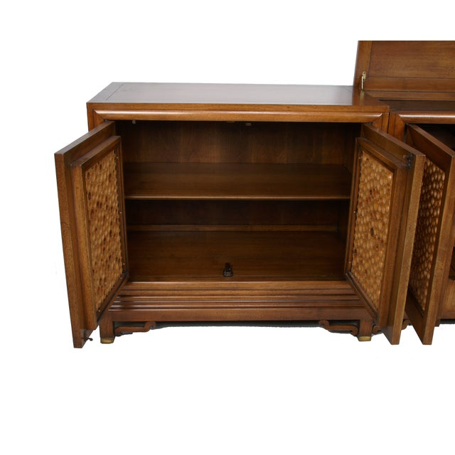 Signed Pierre Bartet Walnut Bar Cabinet - Image 8 of 11