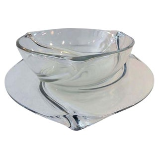 Val St Lambert Bowl & Underplate For Sale